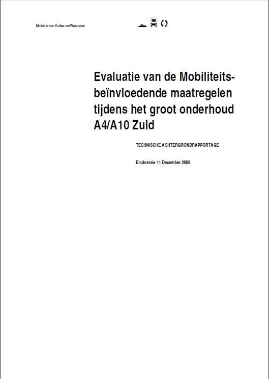 Evaluatie Mobiliteitsmanagement A4-A10 Zuid